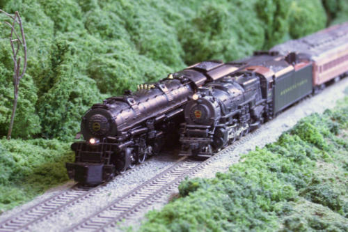 Coal Drag Meets Passenger Train